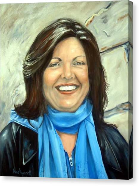 Leslie Eliason Canvas Print by Anne Kushnick