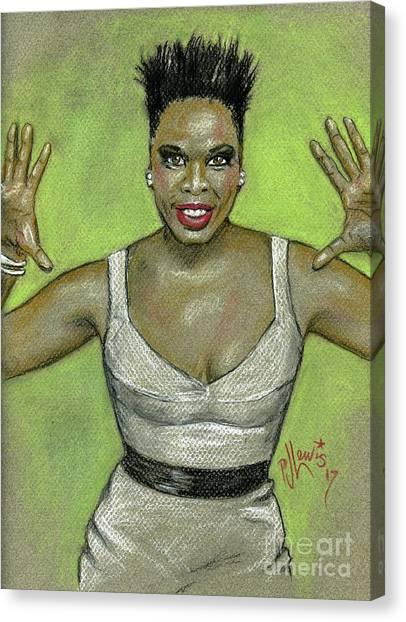 Ghostbusters Canvas Print - Leslie Jones by PJ Lewis