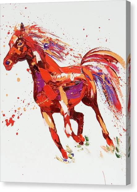 Abstract Horse Canvas Print - L'espirit by Penny Warden