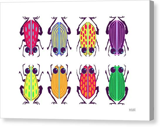 Less-than-creepy Crawlies Canvas Print