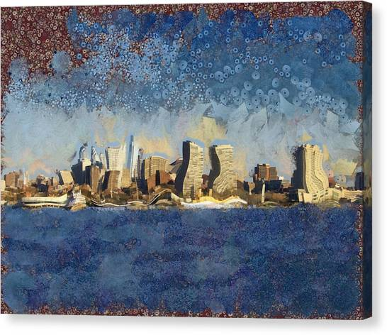 Philly Canvas Print - Less Wacky Philly Skyline by Trish Tritz