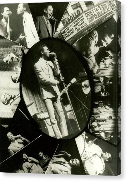 Lester Chambers Of The Chambers Brothers At The Apollo Canvas Print