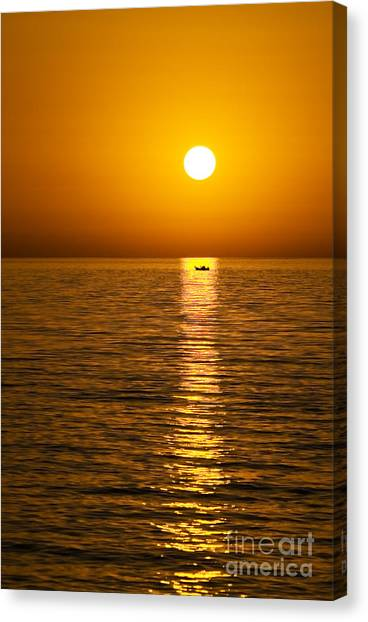 Lesvos Sunset Canvas Print