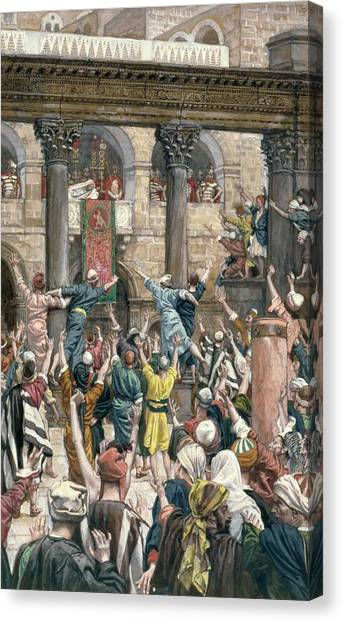 Accused Canvas Print - Let Him Be Crucified by Tissot