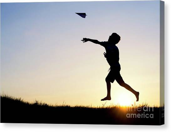 Paper Planes Canvas Print - Let It Fly by Tim Gainey