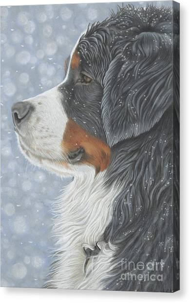 Canvas Print featuring the painting Let It Snow by Donna Mulley