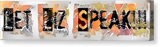 Elizabeth Warren Canvas Print - Let Liz Speak One by Philip Shropshire