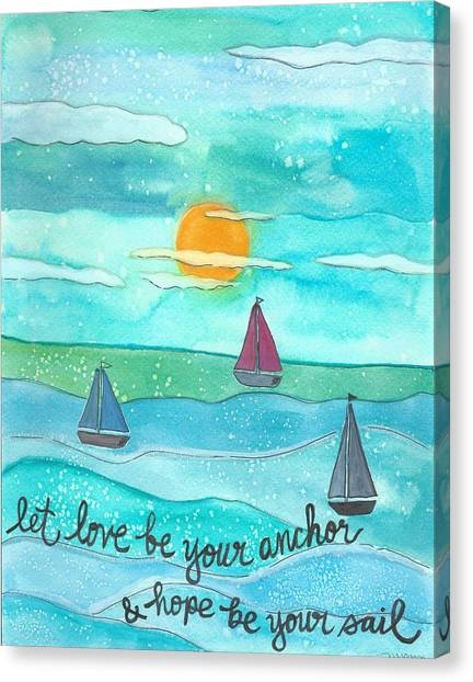 Let Love Be Your Anchor Canvas Print
