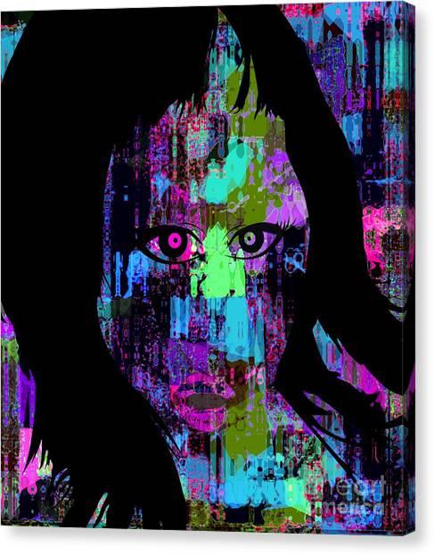 Let My Eyes Speak For Me Canvas Print by Fania Simon