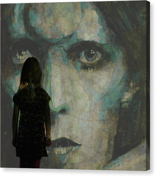 David Bowie Canvas Print - Let The Children Lose It Let The Children Use It Let All The Children Boogie by Paul Lovering
