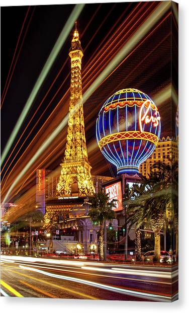 Night Lights Canvas Print - Let The Fun Begin by Az Jackson