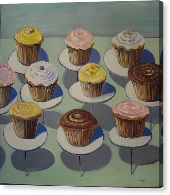 Let Them Eat Cupcakes Canvas Print by Yvonne Dagger