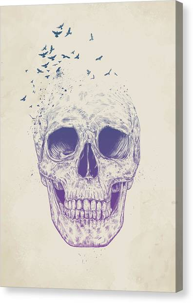 Skulls Canvas Print - Let Them Fly by Balazs Solti