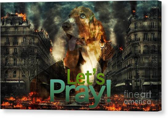 Canvas Print featuring the digital art Let Us Pray by Kathy Tarochione
