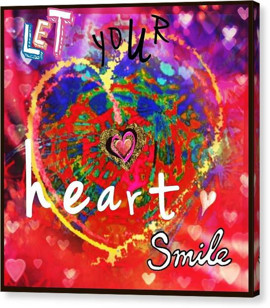 Let Your Heart Smile Canvas Print
