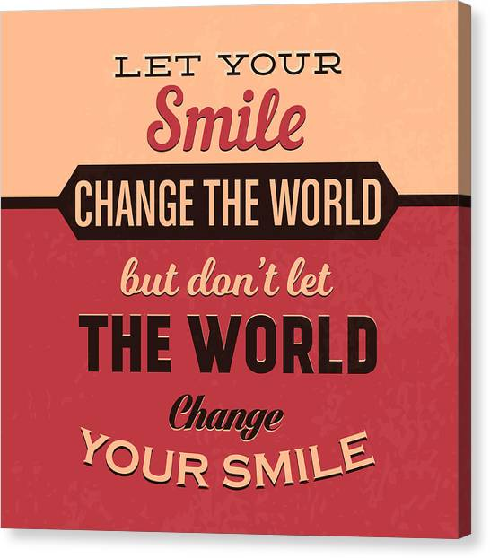 Kiss Canvas Print - Let Your Smile Change The World by Naxart Studio