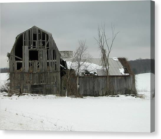 Letchworth Barn 0077b Canvas Print