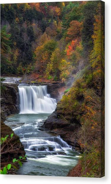 Letchworth Lower Falls 3 Canvas Print