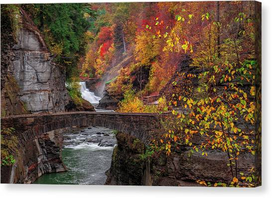 Letchworth Lower Falls Canvas Print
