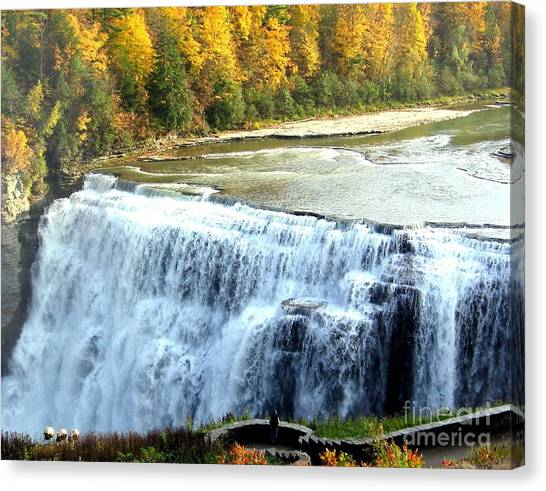 Letchworth State Park Middle Falls Autumn Canvas Print