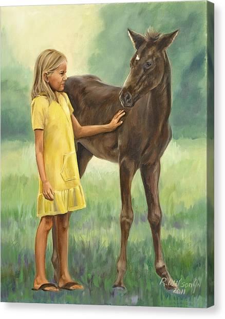 Let's Be Friends Canvas Print