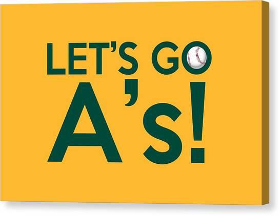 Oakland Athletics Canvas Print - Let's Go A's by Florian Rodarte