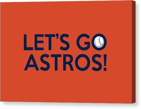 Houston Astros Canvas Print - Let's Go Astros by Florian Rodarte