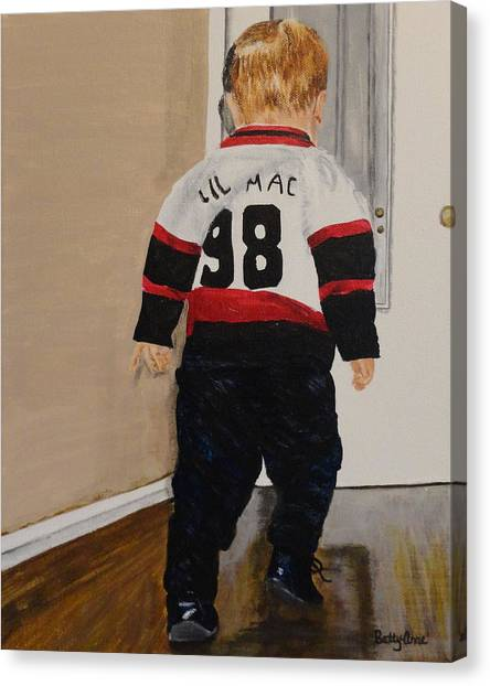 Ottawa Senators Canvas Print - Lets Go by Betty-Anne McDonald