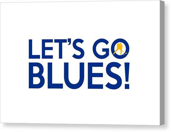 St. Louis Blues Canvas Print - Let's Go Blues by Florian Rodarte