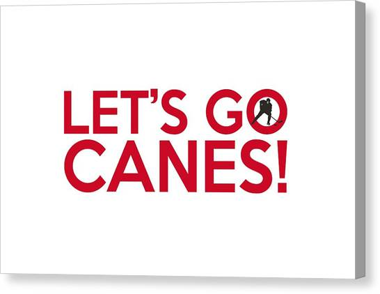 Carolina Hurricanes Canvas Print - Let's Go Canes by Florian Rodarte