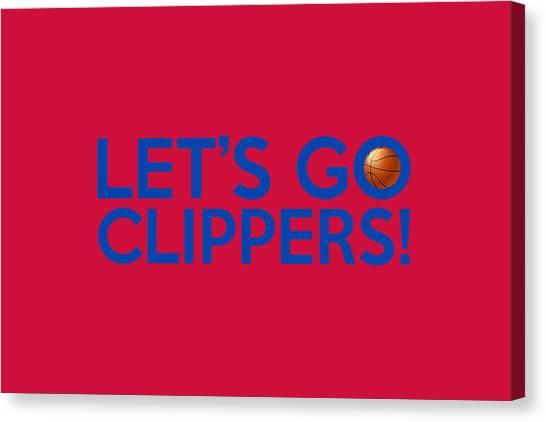 La Clippers Canvas Print - Let's Go Clippers by Florian Rodarte