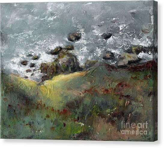 Ocean Cliffs Canvas Print - Lets Go Coastal by Frances Marino