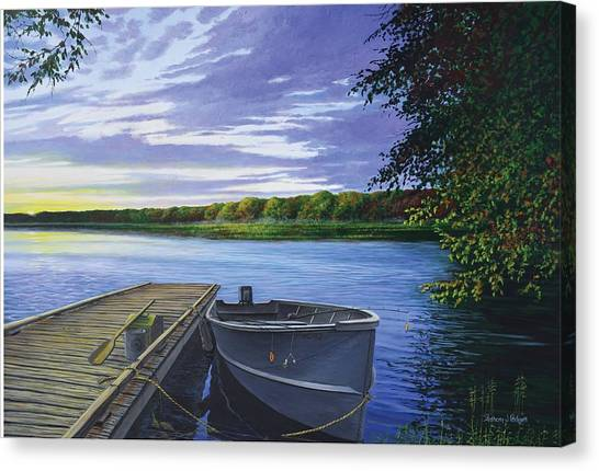 Let's Go Fishing Canvas Print