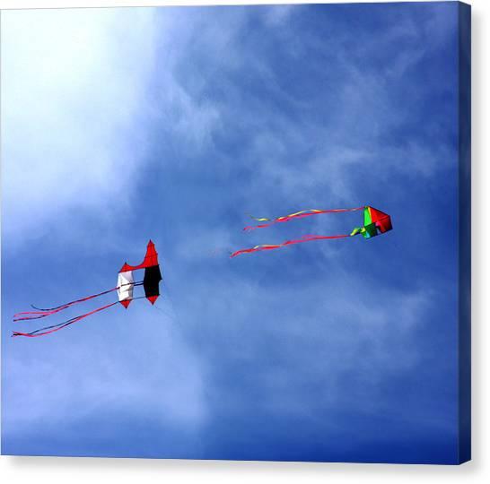 Let's Go Fly 2 Kites Canvas Print