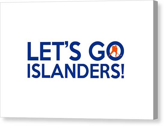 New York Islanders Canvas Print - Let's Go Islanders by Florian Rodarte