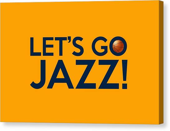 Utah Jazz Canvas Print - Let's Go Jazz by Florian Rodarte