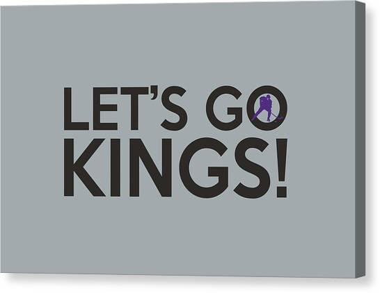 Los Angeles Kings Canvas Print - Let's Go Kings by Florian Rodarte