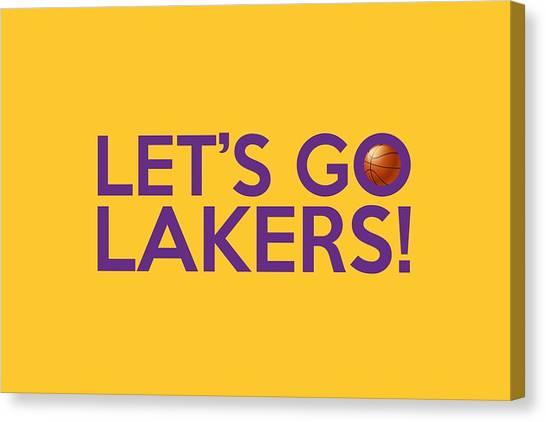 La Lakers Canvas Print - Let's Go Lakers by Florian Rodarte