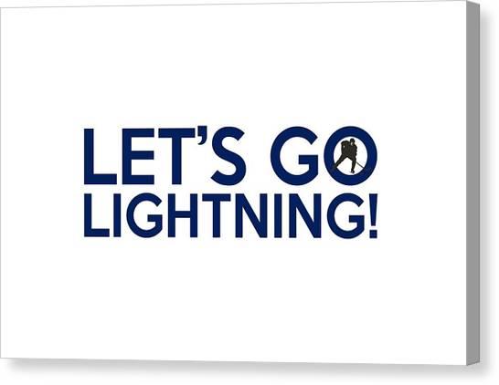 Tampa Bay Lightning Canvas Print - Let's Go Lightning by Florian Rodarte