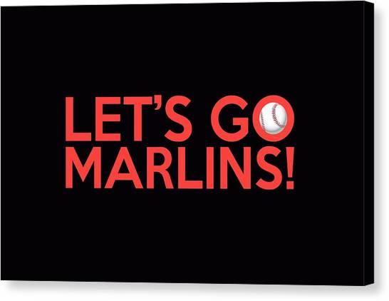 Miami Marlins Canvas Print - Let's Go Marlins by Florian Rodarte