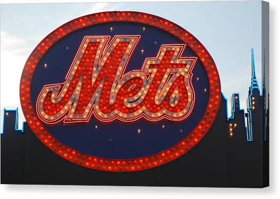 New York Mets Canvas Print - Lets Go Mets by Richard Bryce and Family