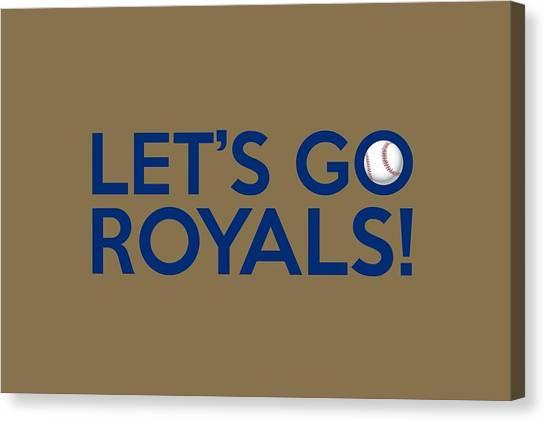 Kansas City Royals Canvas Print - Let's Go Royals by Florian Rodarte