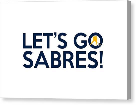 Buffalo Sabres Canvas Print - Let's Go Sabres by Florian Rodarte