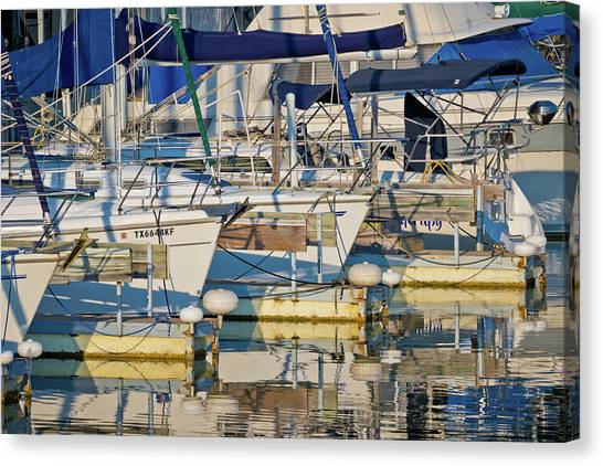 Jibbing Canvas Print - Let's Go Sailing by Linda Unger