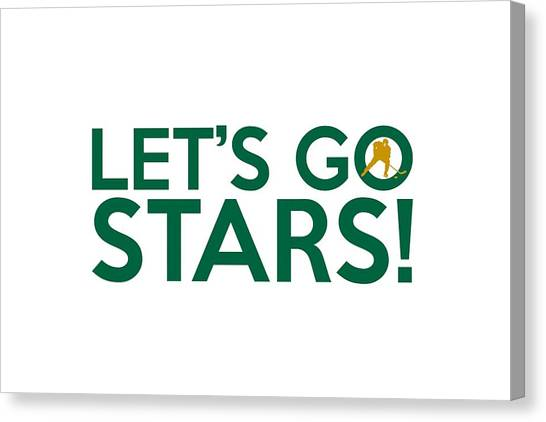 Dallas Stars Canvas Print - Let's Go Stars by Florian Rodarte