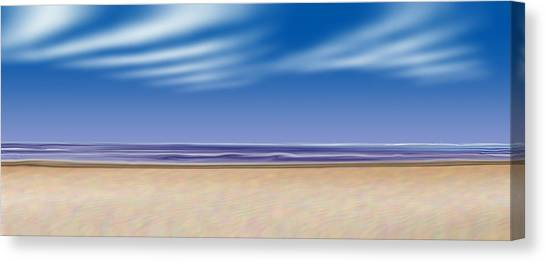 Let's Go To The Beach Canvas Print