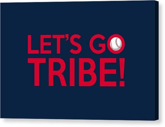 Cleveland Indians Canvas Print - Let's Go Tribe by Florian Rodarte