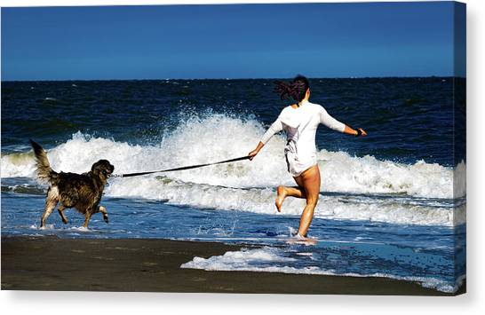 Let's Play In The Water Canvas Print