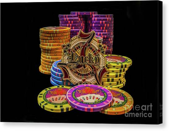 Lets Play Poker Canvas Print