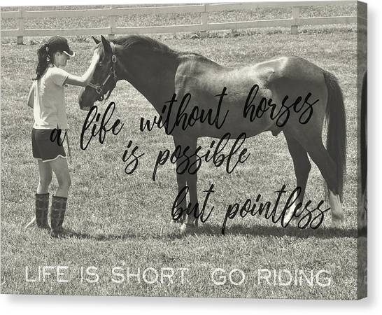 Let's Ride Quote Canvas Print